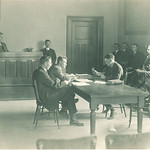 Court day in College of Law, The University of Iowa, 1910s
