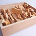 Box of Hand-Made Wooden Toys