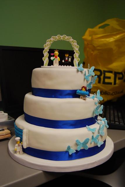 Lego Butterflies Wedding Cake