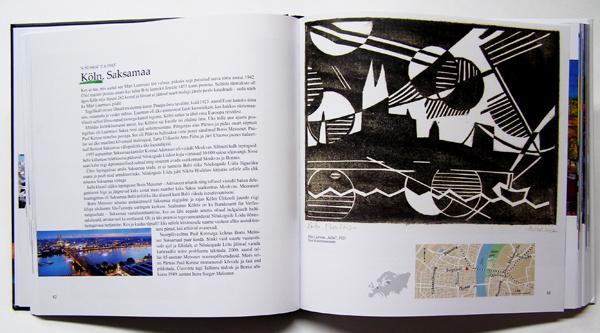 """Aavo Kokk book """"Pintsliga tõmmatud linnad"""", artwork Märt Laarman"""