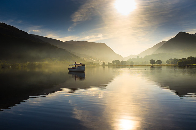 Morning Mist on Llyn Padarn