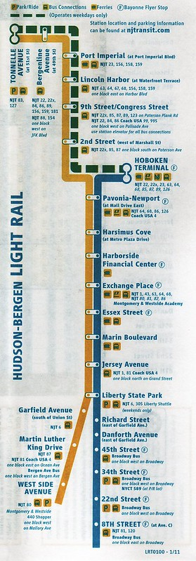 NJ Transit HBLR 2011 Map