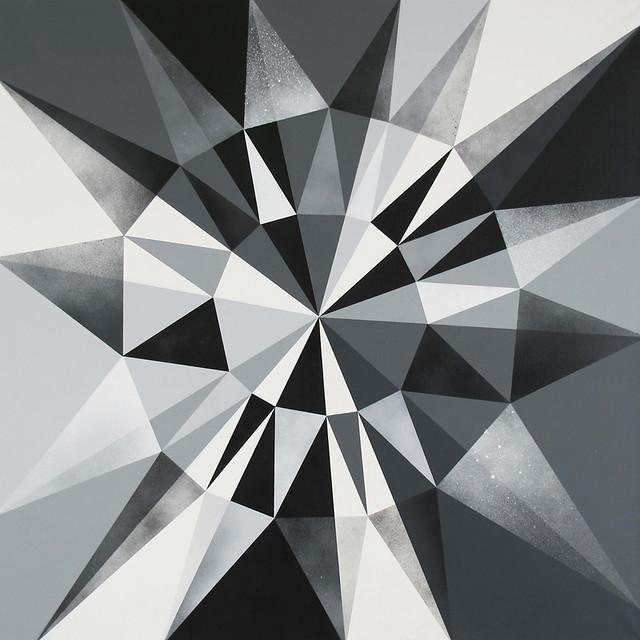 Sun Ray Ricochet : Grey Day Mosaic.