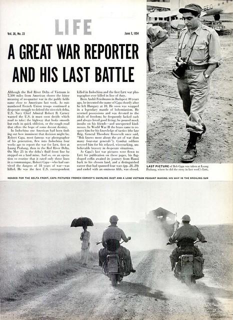 LIFE Magazine June 7, 1954 (1) - A GREAT WAR REPORTER AND HIS LAST BATTLE - Một phóng viên chiến tranh vĩ đại và trận chiến cuối cùng của ông