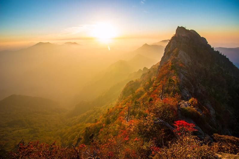 紅葉の石鎚山
