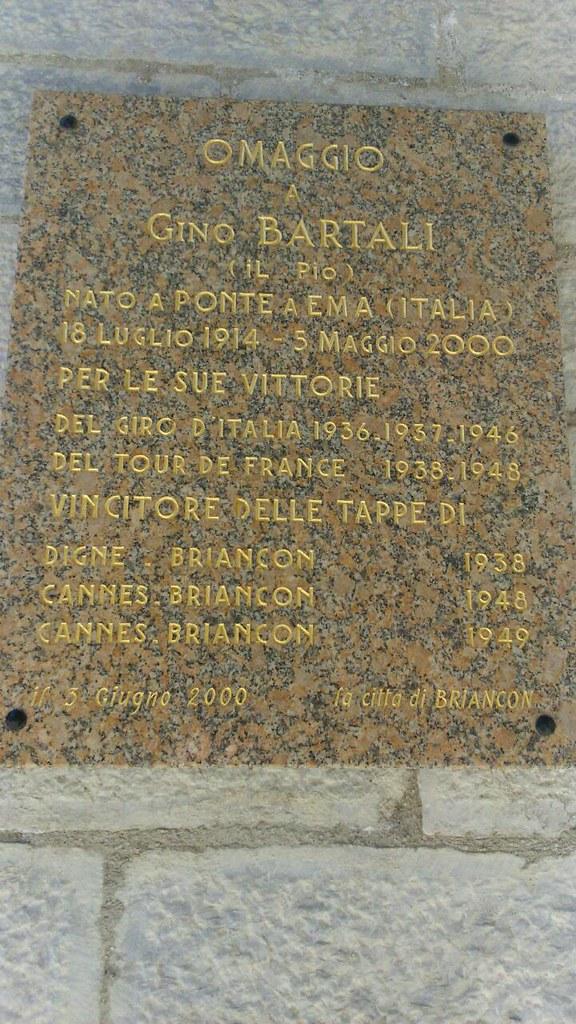 Omaggio a Gino Bartali - La città di Briancon (foto inviata da Massimiliano - Castelfiorentino)