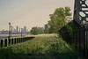One Grand Panoramic Perspective Of The Greenway Area On The Lower Eastside NYC With East River In View by nrhodesphotos(the_eye_of_the_moment)
