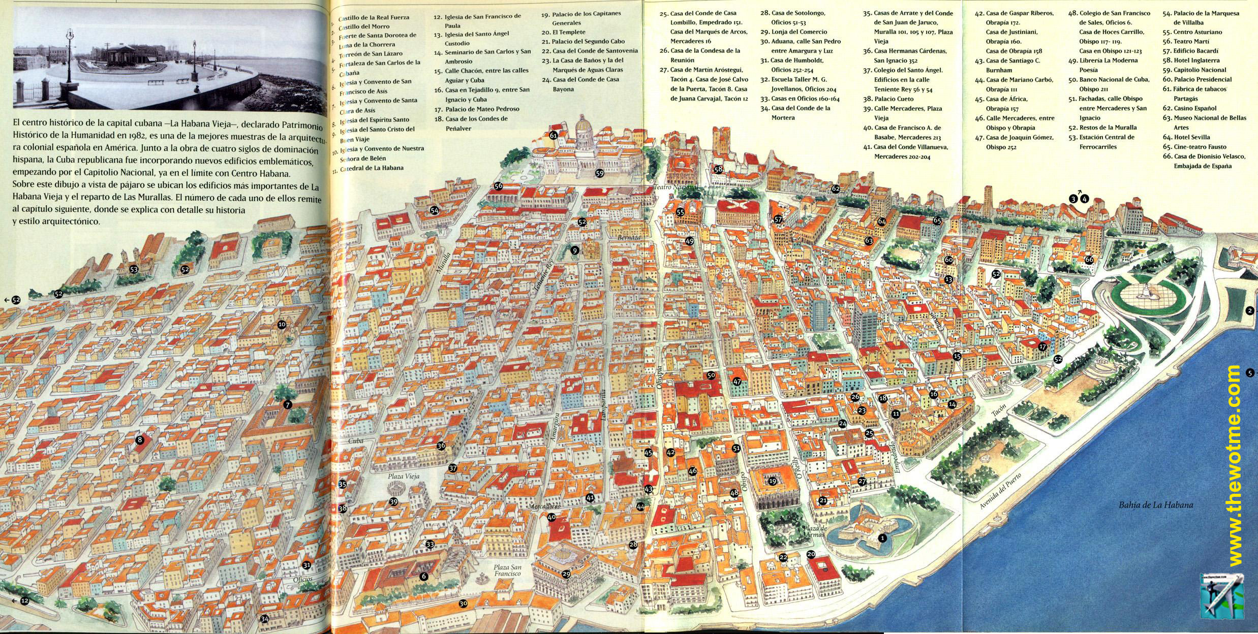Mapa de La Habana, Cuba [object object] - 7886049588 d6aa7257a3 o - La Habana vieja y un paseo por sus plazas