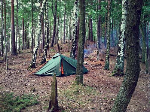 A vango tent in action