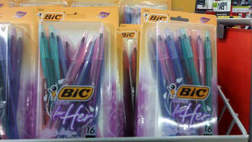 snapshot of Bic for her pens