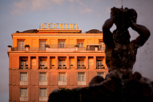 Facade (Hotel Bernini at Sunset), Roma by flatworldsedge
