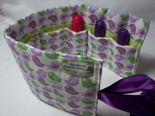 Porta absorvente interno. by ♥Paninhos em forma de amor♥