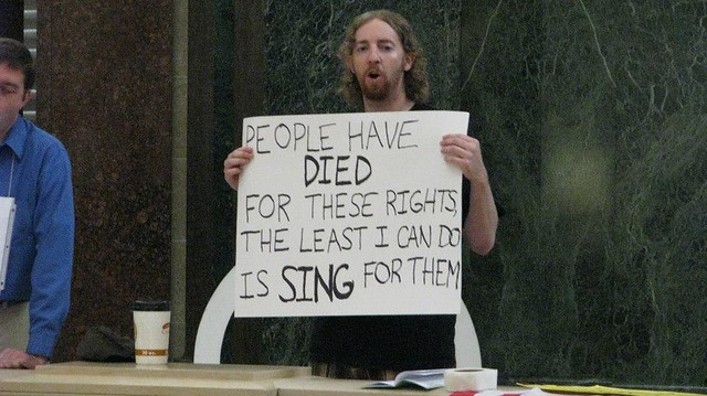 August 28, 2012 Solidarity Sing Along-From Nicole Desautels Schulte