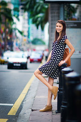 [フリー画像素材] 人物, 女性 - アジア, ワンピース・ドレス, マレーシア人, 街角 ID:201209040800
