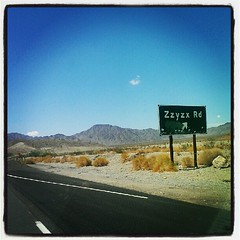 Ah, good ol' Zzyzx Road.