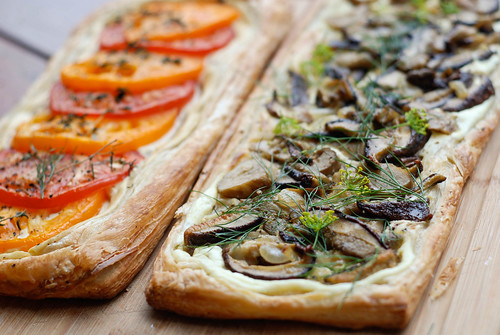 tomatipirukas ja puravikupirukas/tomato tart and wild mushroom tart
