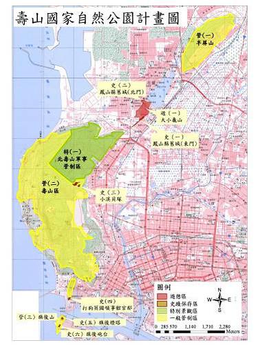 計劃圖。(圖片來源:壽山國家自然公園籌備處)