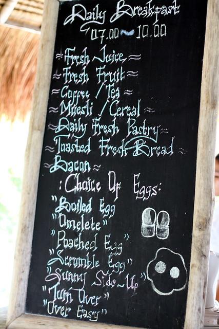 Nikoi Island: Daily Breakfast Chart