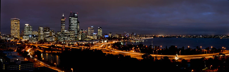 Perth at night from the Kaarta Garup Lookout