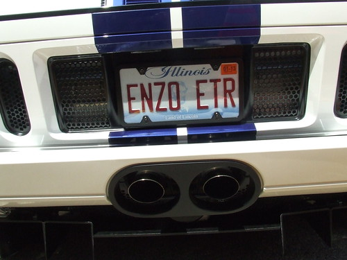 2005 Ford GT license plate