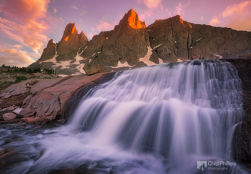 Cirque of the Towers Waterfall, Wind River Range, Wyoming