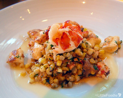 Ricotta gnocchi, maine lobster, chanterelle mushroom and corn