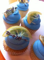 Beautiful Lemon lavender cupcakes by Couture Cakes by Nika by Rachel from Cupcakes Take the Cake