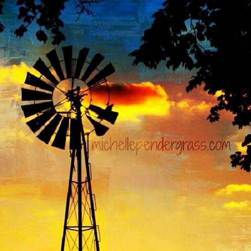 Tonight. #sunset #windmill