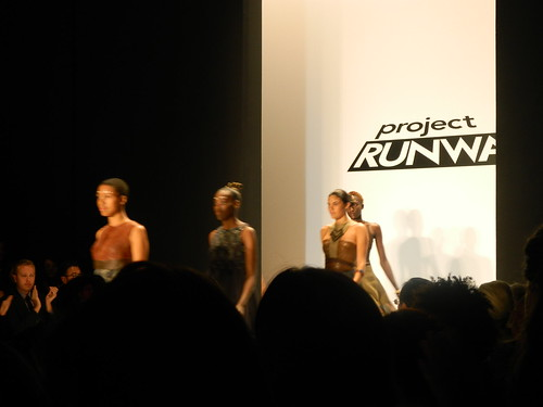 Models at the Project Runway Show