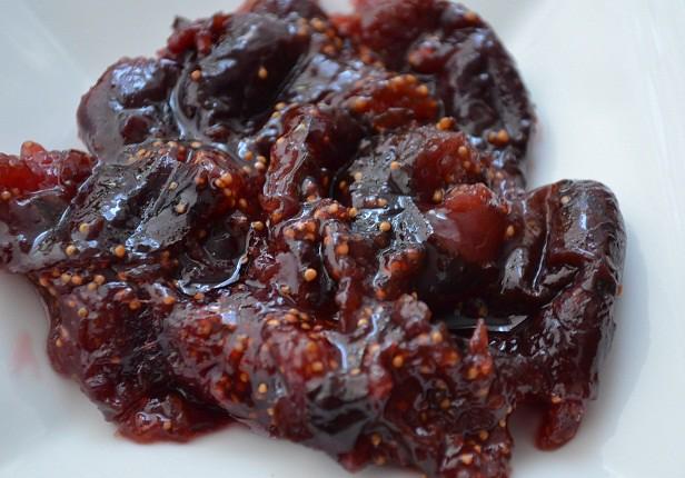 Fig Jam on Plate