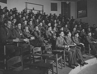 Soldiers at Pomona College in 1943 during specialized training