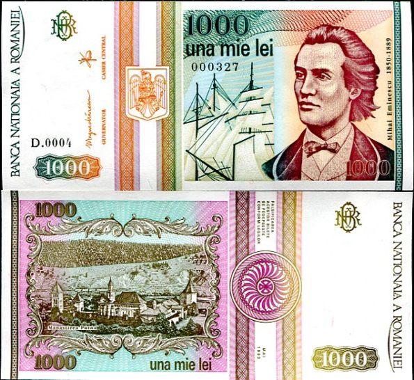 1000 Lei Rumunsko 1993, Pick 102