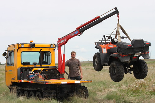 Track Machine lifting honda quad