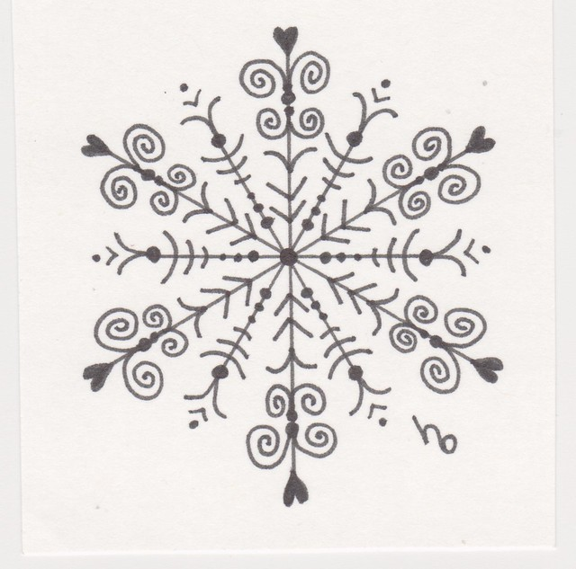 Snowflake Sketch 9 | Drawing using a Sharpie pen. This is ...