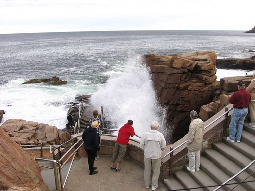 Thunder Hole after Hurricane Leslie