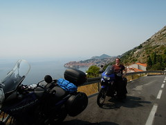 Me on my bike near Dubrovnik