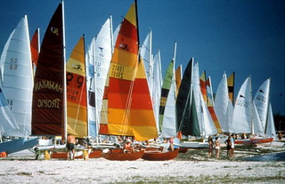 Hobie Cats on Smathers Beach: Key West, Florida