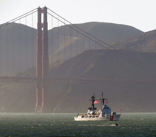 USCGC Morgenthau (WHEC 722) and the Golden Gate Bridge