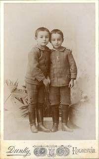 Portrait of two young boys by the Dunky Brothers (c.1887)