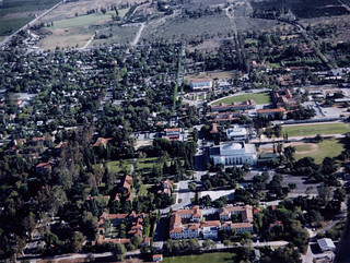 Aerial view of the campus in 1956