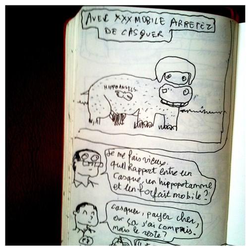 """""""Avec xxx arrêtez de casquer"""" que vient faire l'hippopotamme la dedans? by 201169"""