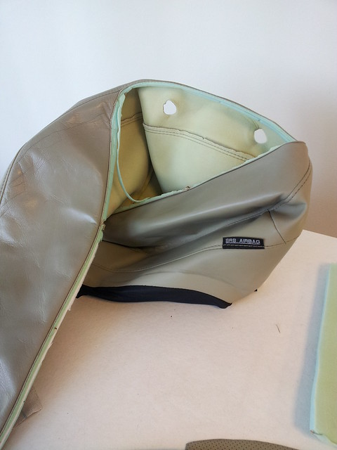 De airbag, gerecycled leer auto stoelen