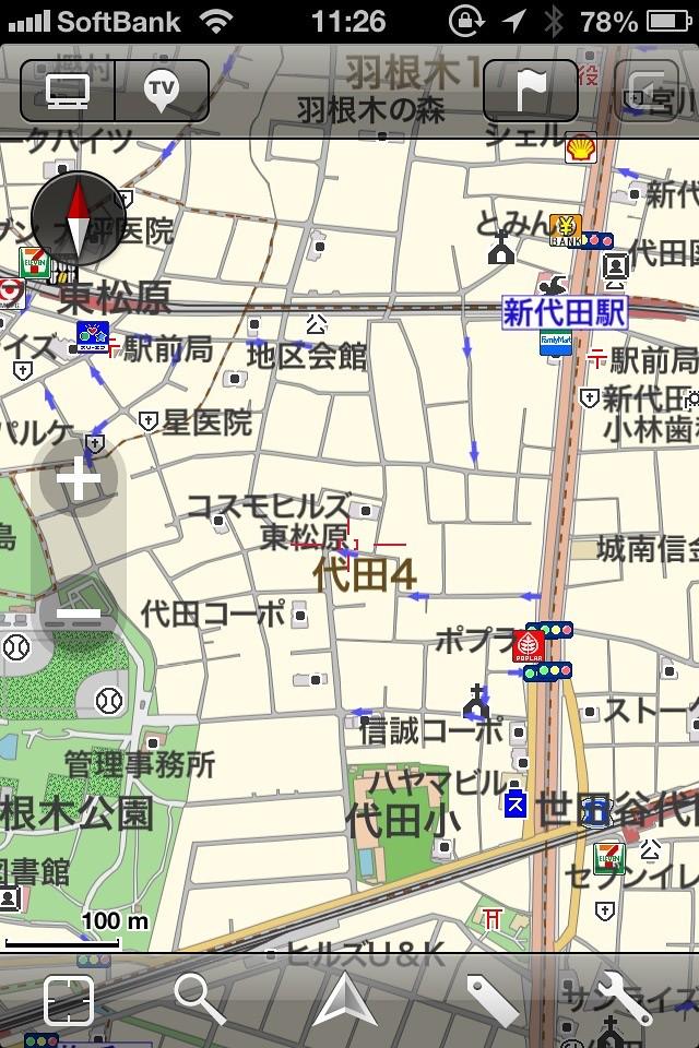 MapFanでの東松原駅