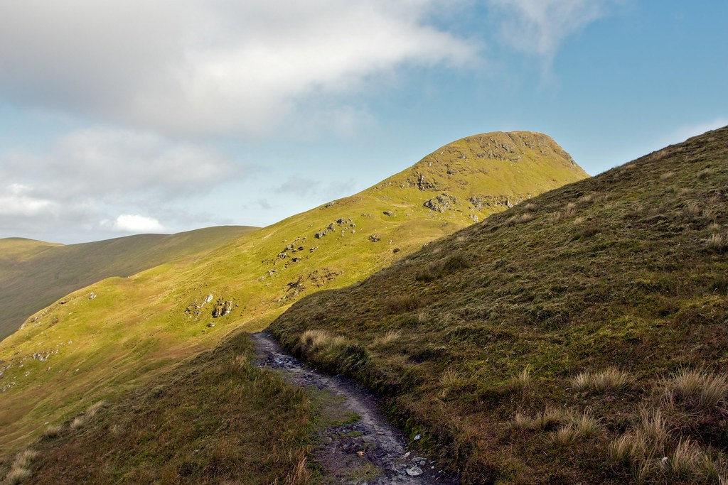 The track to Beinn nan Eachan