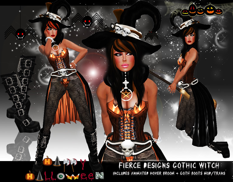 Gothic Witch Orange by Fierce Designs