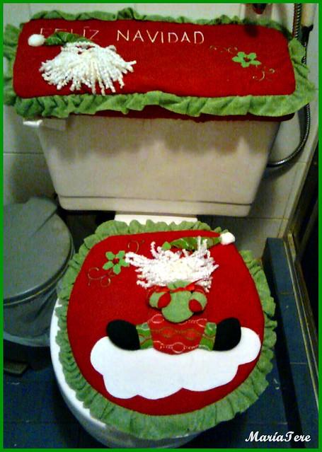 Juegos De Baño Fieltro Navidad:Juego de baño de navidad en fieltro