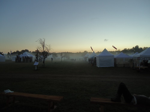 fog settles over the fair