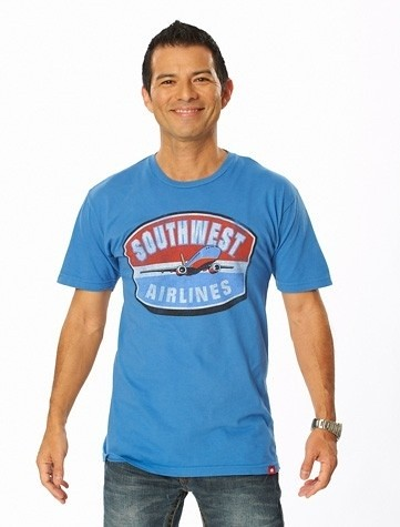 Blue Southwest Airlines T Shirt