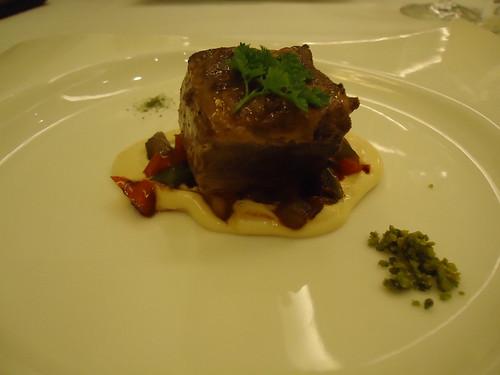 Zaragoza | El Chalet | Bonito marinado con verduras al wok y emulsión de soja