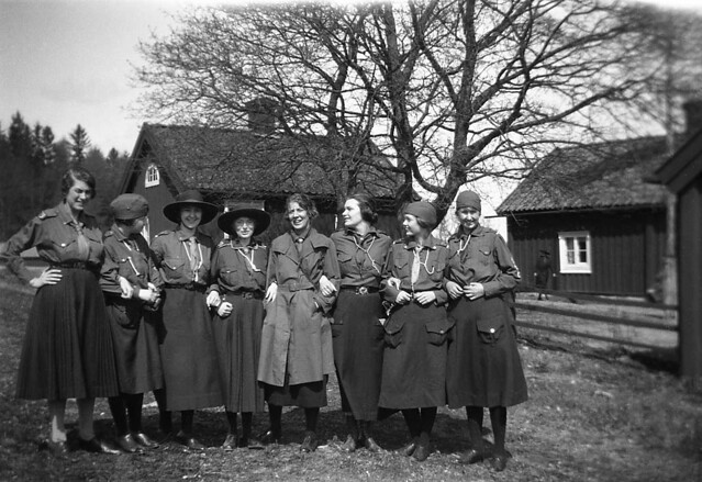 Girl scouts at Frustunaby farm, Södermanland, Sweden